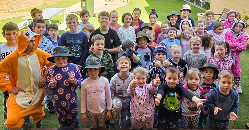 PJs way to go at St Joseph's, Merriwa  IMAGE