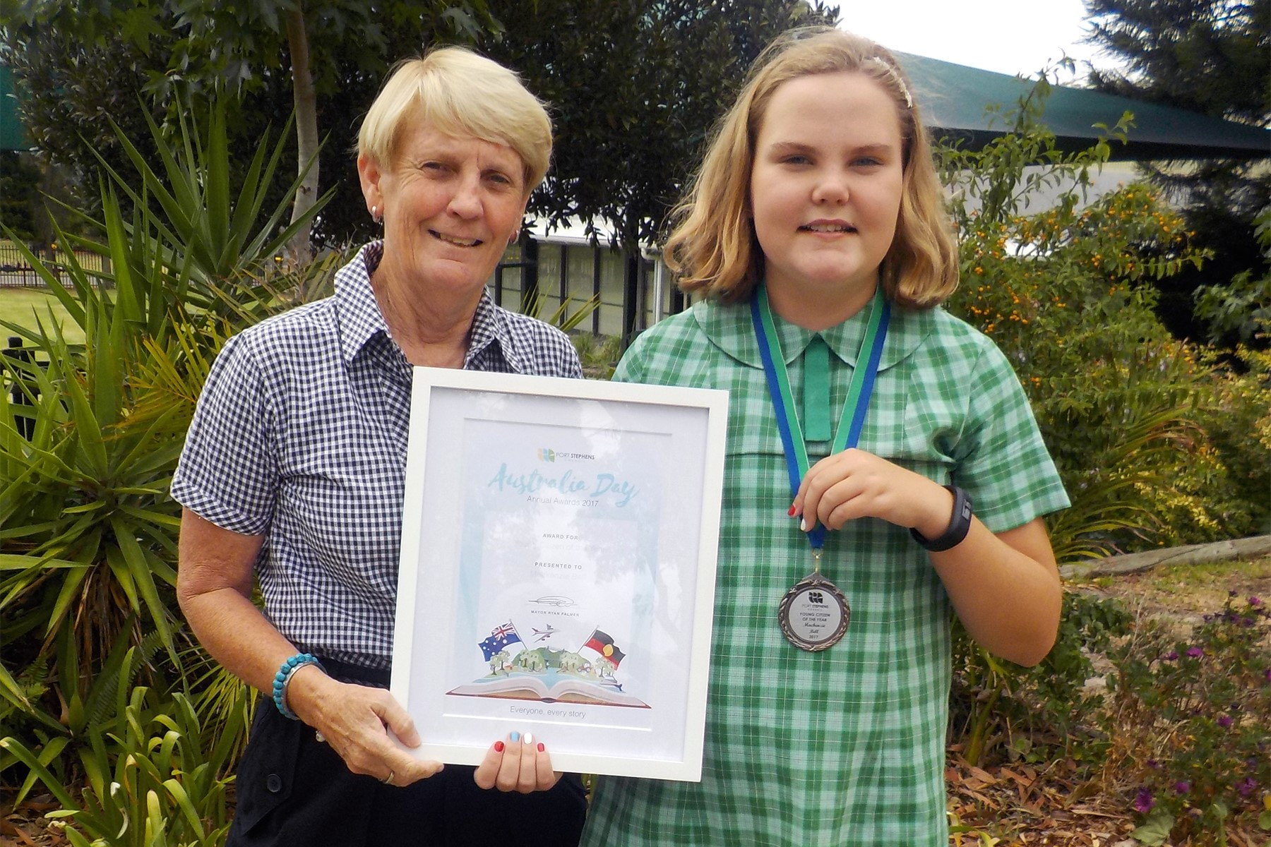 Image:St Michael's student named Young Citizen of the Year in Port Stephens