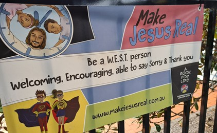 Image:WEST is best at St Columba's