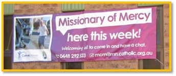 Missionary of Mercy banner