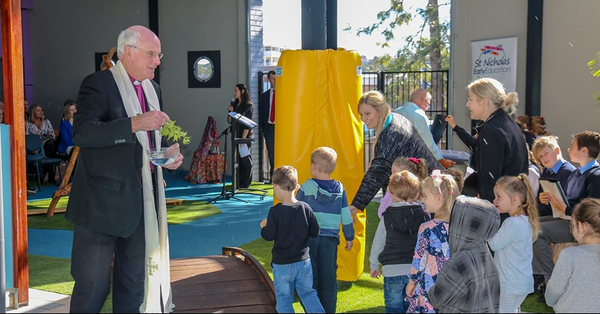 St Nicholas Early Education Cardiff blessed and officially opened IMAGE