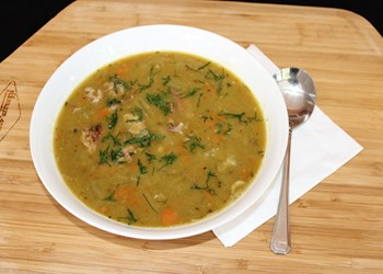 Pea and ham soup IMAGE