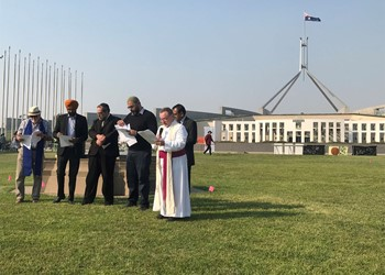 Faithful speak out at People's Climate Assembly after bushfires                       IMAGE