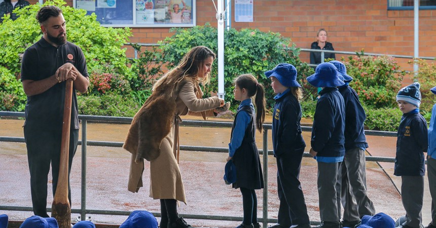 Wandana visits primary schools in celebration of NAIDOC Week IMAGE