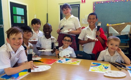 Image:Artist in residence at St Columban's Mayfield
