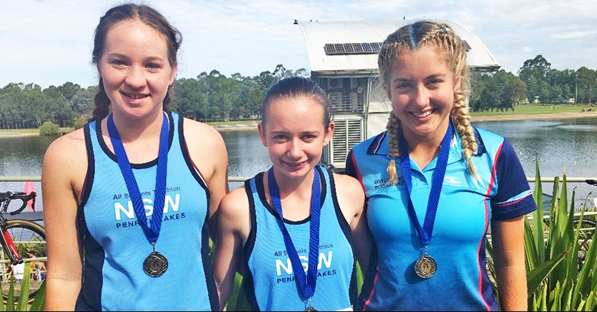 St Joseph's strike gold at Australian All Schools Triathlon IMAGE
