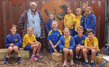 Image:St Joseph's Merewether open and bless new Aboriginal sacred space