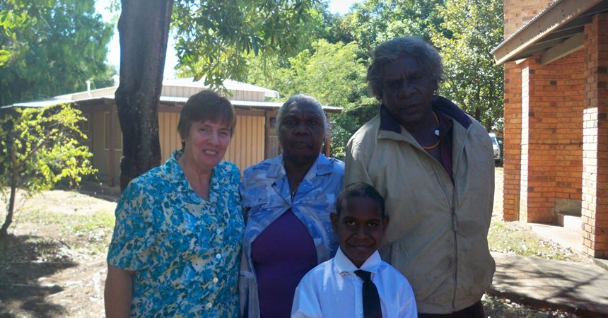 Sr Christine O'Connor: Heading home from Kununurra IMAGE