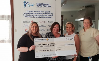 Taree Community Kitchen receives $500 donation  IMAGE