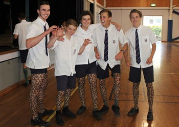 St Paul's students take their socks off for solidarity  IMAGE