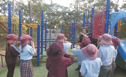 St Joseph's students have bags of attitude! IMAGE