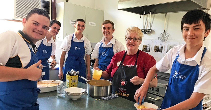 St Clare's volunteers at Community Kitchen IMAGE