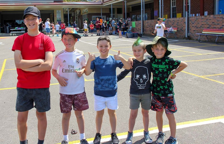 Crazy Hair and Mission Day at Corpus Christi Waratah IMAGE