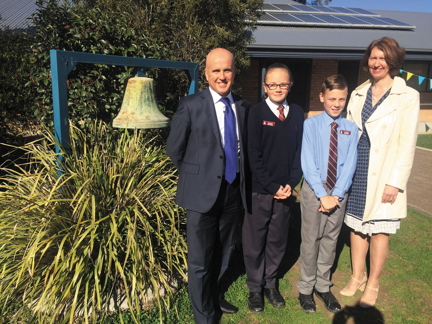 Minister for Education learns much from his visit to St James' Muswellbrook