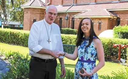 Diocesan recognition for a committed young woman IMAGE