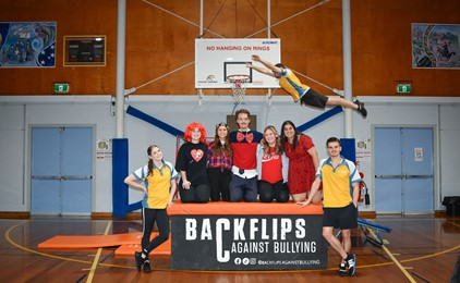 Backflips at Booragul on bullying behaviour  IMAGE