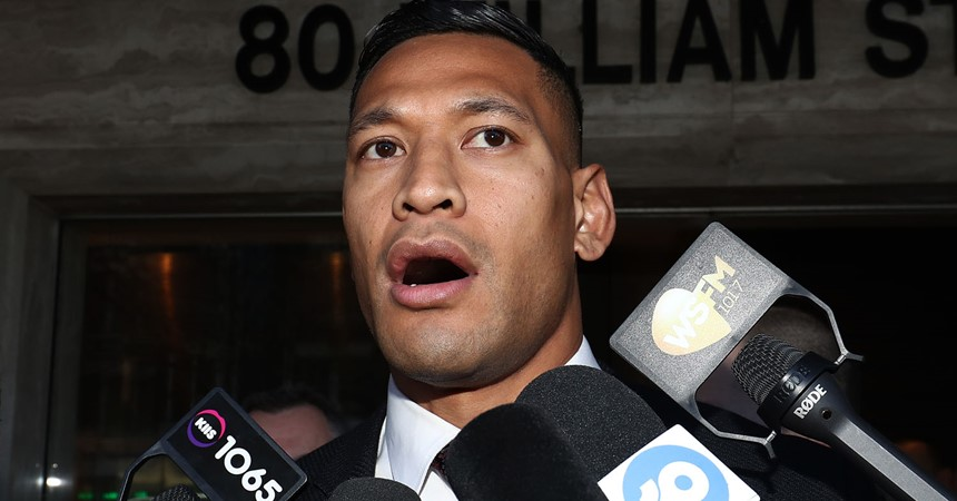 Wrestling with the sacking of Israel Folau IMAGE