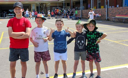 Image:Crazy Hair and Mission Day at Corpus Christi Waratah