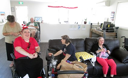 Christmas Morning Joy at CatholicCare Supported Accommodation IMAGE