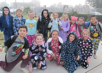 Rosary Park students wear their pyjamas to school for St Vincent de Paul IMAGE