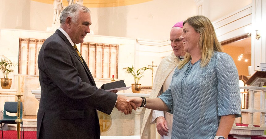 Amy McGarry awarded 2017 Monsignor Coolahan Award for Excellence in Teaching IMAGE