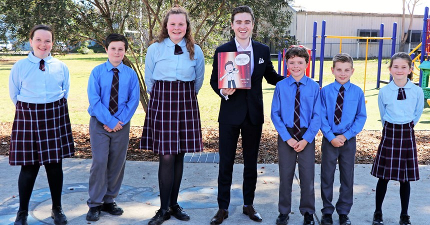 Winner of The Voice 2013 and famous author visits our schools for Book Week  IMAGE