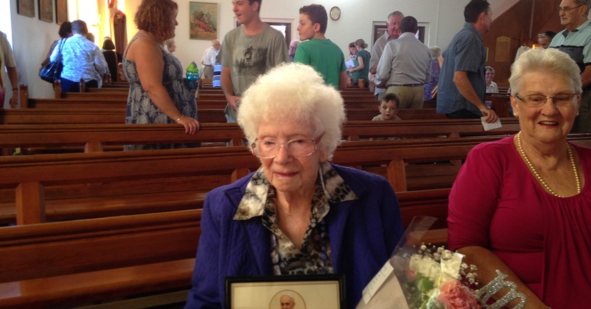 No half measures for centenarian Mavis IMAGE