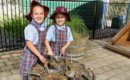 Image:Natural play-based learning at St Joseph's Kilaben Bay